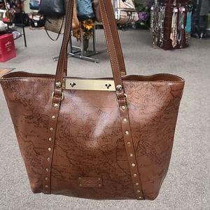 Patricia Nash world globe tote purse